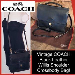 Vtg COACH Leather Willis Shoulder Crossbody Bag!